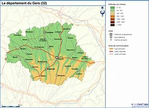 Carte Du Gers Détaillée : gers carte d taill e archives voyages cartes ~ Maxctalentgroup.com Avis de Voitures