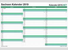 Kalender 2019 Sachsen