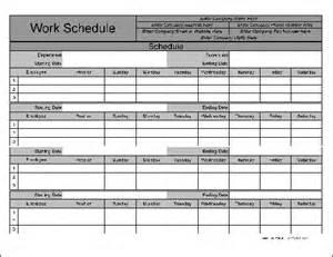 Monthly Work Schedule Form