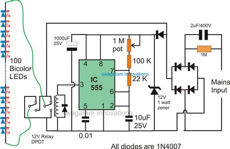 Pin Color Led Flasher Circuit Electronic