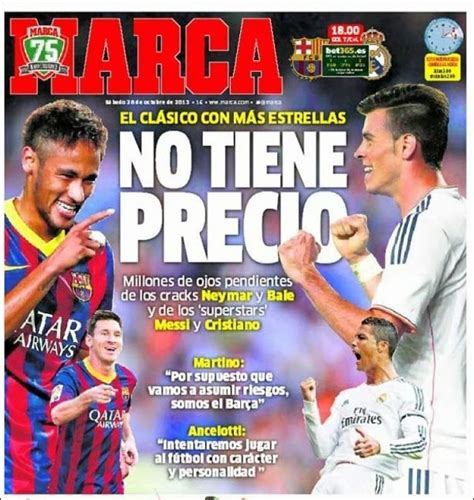 Portadas del Barcelona vs. Real Madrid 2013