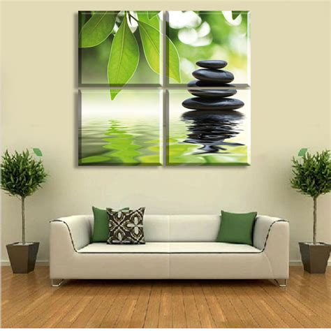 Feng Shui Wall Decor by 2015 New Style 4 Pieces Of Wall Art The Feng Shui Green