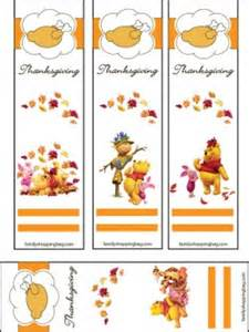 bookmarks thanksgiving pooh 2 thanksgiving bookmarks free printable ideas from family