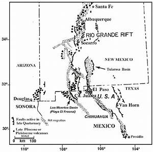 Map Showing The Relation Of Late Quaternary Faults And