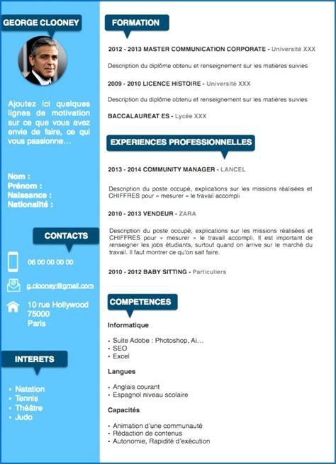 Exemple Des Cv Professionnel by Cv Professionel Comme Faire Un Cv Lusocarrelage