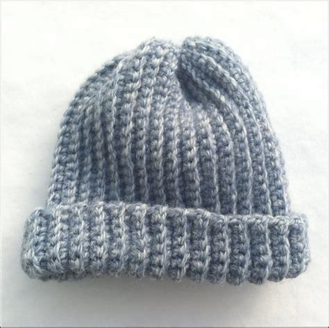 Letter Ribbed Beanie textiles4you crochet ribbed baby hat