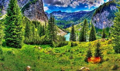 Scenery Mountain Spectacular Hdr Nature Mountains Wallpapers