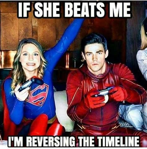 Supergirl Memes - not a good idea dear supergirl please do not beat him he will screw up the timeline again