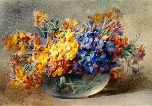 Ent Blanche Odin : spring flowers in a glass bowl blanche odin ~ Premium-room.com Idées de Décoration