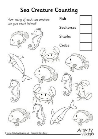 sea creature counting 1 542 | sea creature counting 3 460
