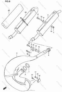 Suzuki Motorcycle 1998 Oem Parts Diagram For Muffler