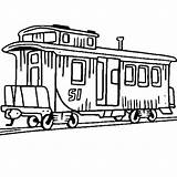 Train Caboose Coloring Clipart Railroad Drawing Pages Passenger Locomotive Steam Clip Electric Engine Little Luna Trains Could Getdrawings Amazing Cliparts sketch template
