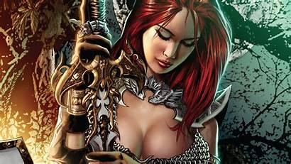 Sonja Wallpapers Fantasy Warrior Redhead Woman Artwork