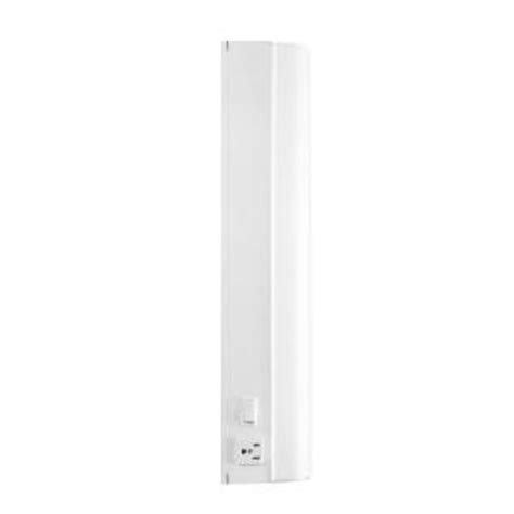 home depot direct catalog westek 18 3 in flourescent white 15 watt direct wire with outlet fa318hw the home depot
