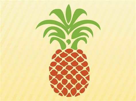 Clip Pineapple Vector Art Free