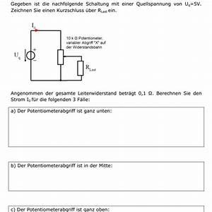 Potentiometer Widerstand Berechnen : potentiometer strom berechnen forum ~ Themetempest.com Abrechnung