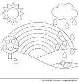 Rainbow Coloring Pages Printable Colouring Drawings sketch template