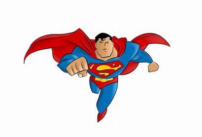 Superman Clip Cartoon Clipart Famous Characters Vector