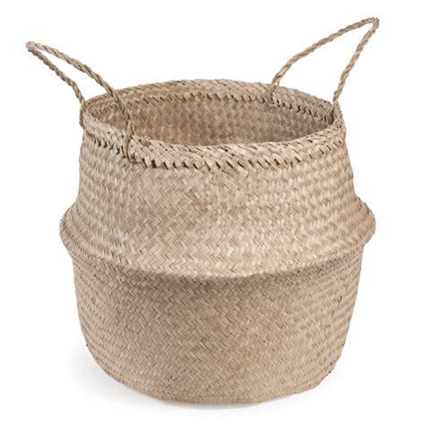 déco chambre bébé garcon panier thaïlandais en fibre végétale h 47 cm maisons du