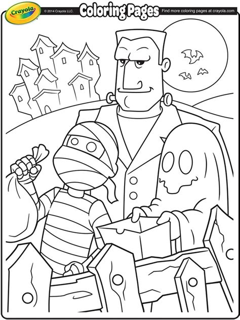 Halloween Trick or Treaters Coloring Page   crayola.com