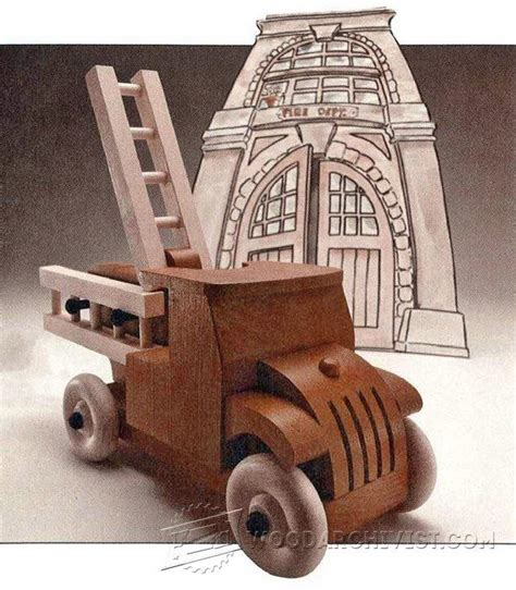 wooden fire truck plans childrens wooden toy plans  projects woodarchivistcom