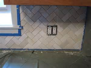 herringbone kitchen backsplash herringbone backsplash