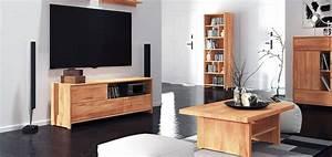 Meubles En Bois Massif : meuble tv en bois massif 3 tiroirs soho ~ Melissatoandfro.com Idées de Décoration