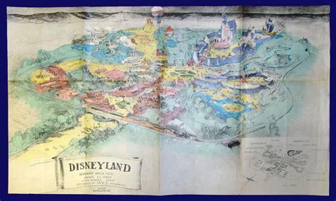 herb ryman disneyland concept drawing colorized retro