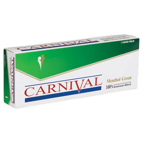 Carnival Menthol Green 100s Box  Budget Brands
