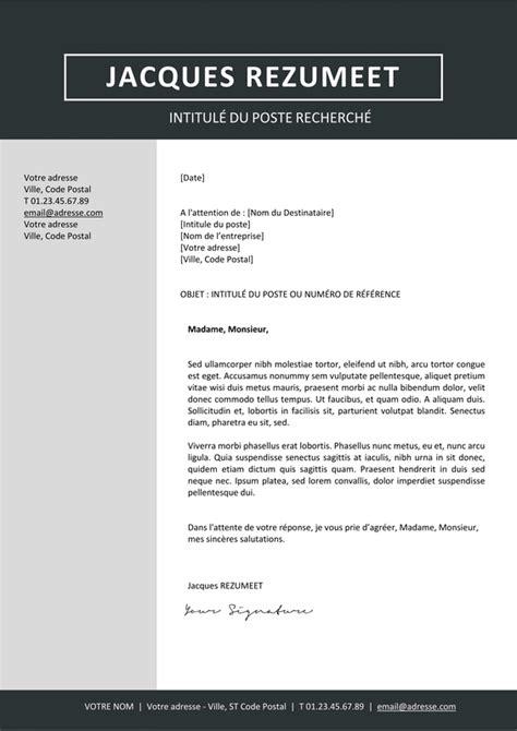 lettre de motivation lettres modernes jordaan mod 232 le de cv moderne rezumeet