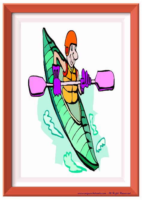 extreme sports water air esl printable english flash cards