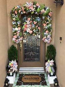 farmhouse easter wreath and garland set easter front door