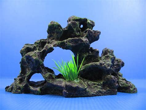 rock cave ruins aquarium ornament decoration decor 17 5cm hide fish tank