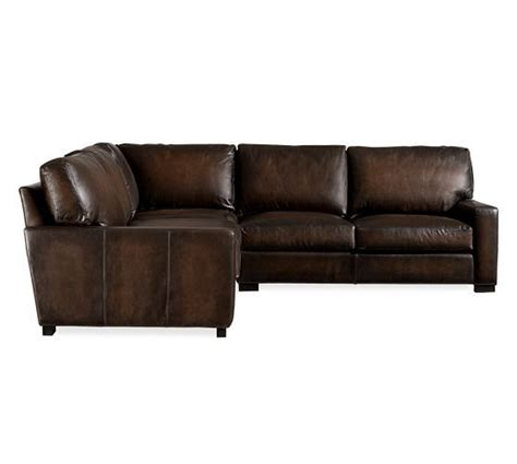 Pottery Barn Turner Sectional Sofa by Turner Leather 3 L Shaped Sectional Pottery Barn