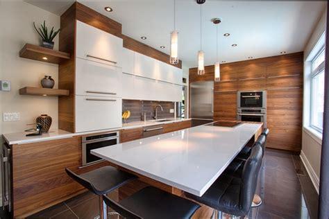 table banc cuisine cuisine bois cuisine blanche et bois noyer