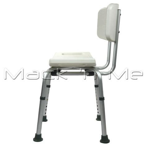 shower chair seat stool curved bath aluminium with height