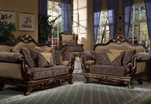 style upholstered sofa with wood trim living room furniture set 5124