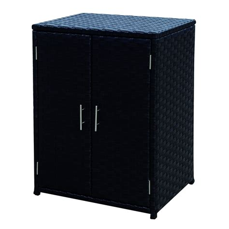 outdoor patio storage cabinet mimosa mandalay wicker outdoor storage cabinet i n 3191374