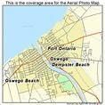 Aerial Photography Map of Oswego, NY New York