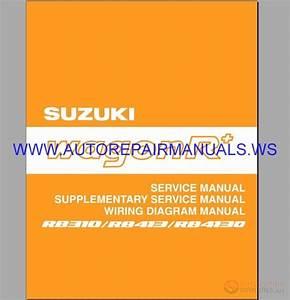 Suziki Rb310-rb4130 Wagonr Schematic Service  U0026 Shop Manual