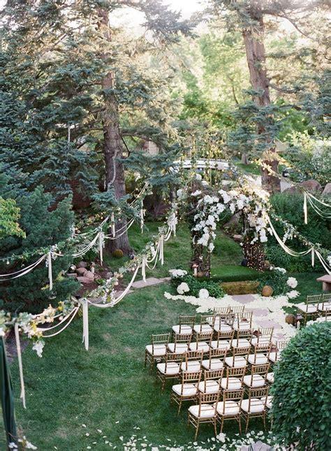 Backyard Garden Wedding Ideas by 45 Dreamy Outdoor Woodland Wedding Ideas Deer Pearl Flowers