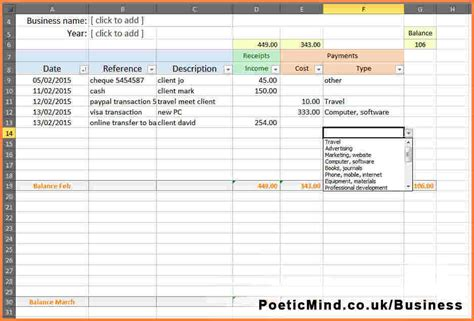 accounting spreadsheet templates excel excel