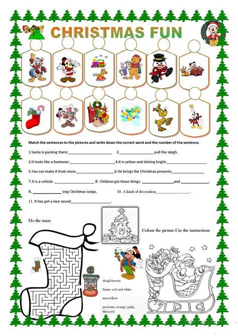 Christmas Fun Worksheet  Free Esl Printable Worksheets