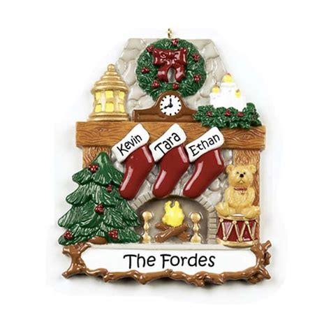 fireplace stocking 3 christmas ornament rm9 3 12 95