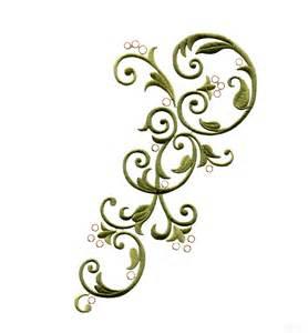 Free Embroidery Swirl Design Clip Art