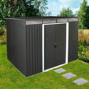 Gerätehaus Metall Flachdach : ger tehaus metall pultdach xa48 hitoiro ~ Michelbontemps.com Haus und Dekorationen