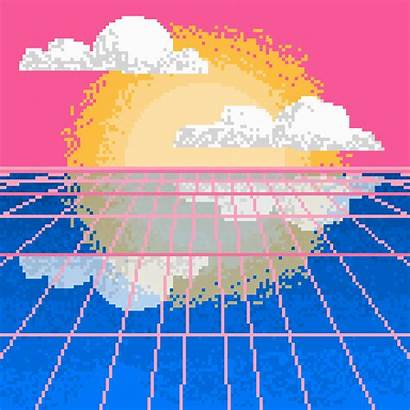 Pixel Vaporwave Giphy Gifs Trending Changing Trends