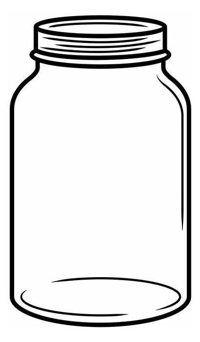 Jar Mason Clipart Jars Drawing Embossing Template