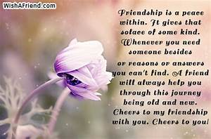 Friendship is a... Peace Friendship Quotes
