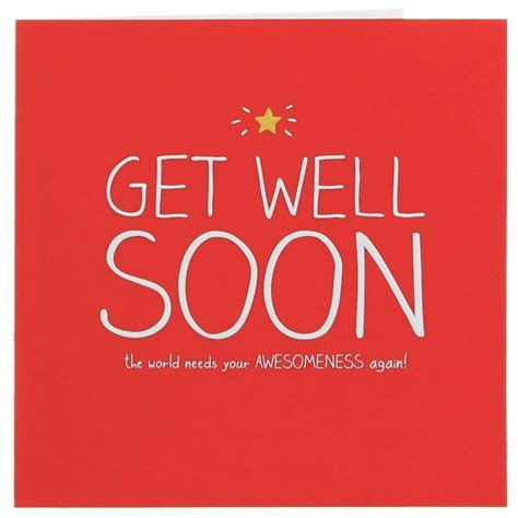 Happy Jackson Get Well Soon Card   Temptation Gifts
